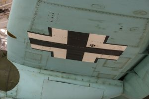 Port wing underside and nacelle