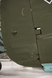 Lower rudder/vertical stabiliser